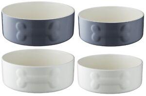 Mason Cash Ceramic Pet Bowl Dog Bowls Large & Medium 20cm & 15cm Pet Bowls