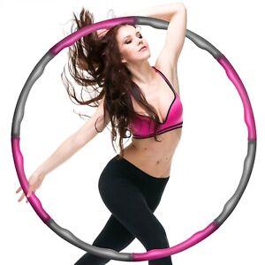 Hula Hoop Reifen - Fitness Erwachsene Hoopdance Bauchtrainer - 8 Teile; 1,2kg