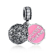 European Silver CZ Charm Beads Fit sterling 925 Necklace Bracelet Chain #A049