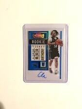 2020-21 Panini Contenders Cole Anthony RC CLEAR On Card Auto