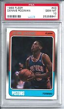 1988 Fleer Basketball #43 Dennis Rodman Rookie Card PSA 10 Gem Mint
