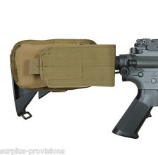 Condor M4 Buttstock Mag Pouch .223 & 5.56 Tan - Tactical Molle #MA59