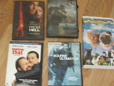 4 DVD'S, 1 VHS FROM HELL, ANALYZE THAT, KING KONG, BOURNE ULTIMATUM, MILO & OTIS