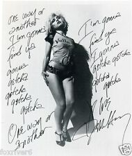 BLONDIE / DEBBIE HARRY Autographed Photograph One Way Or Another Lyrics Preprint