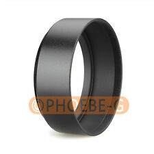 49mm Standard Metal Black Lens Hood for Canon Nikon Sony Pentax