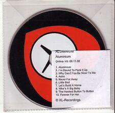 """The White Stripes """"alluminio"""" 10 TRACK CD PROMO RARE"""