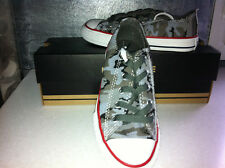 CONVERSE ALL STAR-BASKET TOILE BASSE NOIR MULTI COLOR POINTURE 28