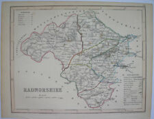 1840s ENGLISH COUNTY MAP BY J ARCHER RADNORSHIRE WALES