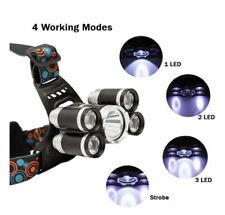 2 UNITS of High power headlamp LED Head Lamp Flashlight Torch .