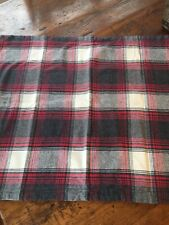 Pendleton Flannel Fern Ridge Red Gray Plaid Standard Pillow Sham 20X26