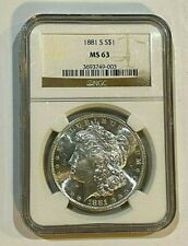 1881-S $1 NGC MS 63 Morgan Silver Dollar  ~~ Excellent Luster ~~