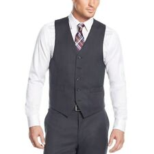 $160 MICHAEL KORS men GRAY FIT BUTTON WOOL DRESS SUIT VEST WAISTCOAT 44 R