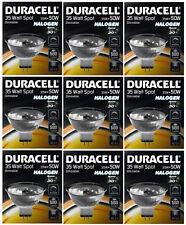 9 x Duracell 35w = 50W Eco économie d'énergie MR16 halogène spot spots 12V
