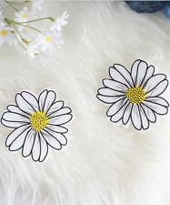 White Daisy Flower Pasties, EDC Rave Festival Glow in the Dark Flower Pasties, N