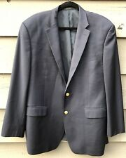 Ralph Lauren Mens Blazer Suit Coat Navy Blue With Gold Buttons Size 44L