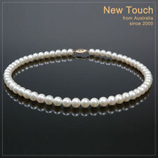 AAA grade 7~7.5mm saltwater white pearl necklace