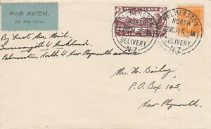 New Zealand 16- 1931 FIRST FLIGHT  COVER  Palmerston to New Plymouth
