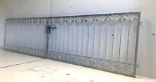 Gartentor Cancello Porta in Ferro Monaco-FT400/80S Markenschloss Fuoco Zincato