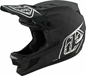 Troy Lee Designs D4 MIPS Carbon Full Face Bike Helmet Stealth Black/Silver