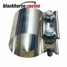 """5"""" Stainless Steel Butt Joint Band Exhaust Clamp Sleeve Coupler T304"""