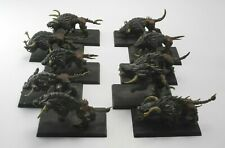 10 CHAOS WARHOUNDS Plastic Beasts of Chaos Warriors Army Painted Warhammer 61