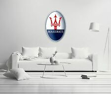 Maserati Shield Luxury Sport Cars Wall Decal Decor For Car Home X-Large