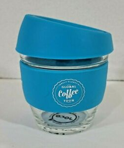 Nice JOCO Glass Coffee Sippy Cup LONELY PLANET FOOD Global Coffee Tour!