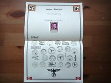 Germany Nazi 1944 Stamp used Military Parcel Post Hitler Overprint Third Reich D