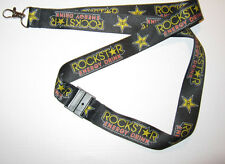 ROCKSTAR Energy Drink Ribbon Keychain Lanyard NEW (T159)