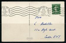 FRANCE  EXPOSITION OF 1937  CANCELED POSTCARD TO LONDON