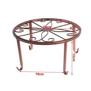 Wrought Iron Plant Stand Flower Stand Balcony Flower Pot Rack Durable MetalH192