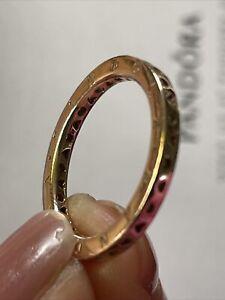 Genuine Rose Gold Signature hearts of Pandora Ring Size 50