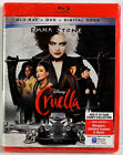DISNEY CRUELLA (Blu-ray, DVD, Digital, 2021) NEW SEALED NO SLIPCOVER Emma Stone