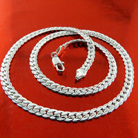 Necklace Pendant Chain Real 925 Sterling Silver S/F Solid Ladies Antique Design