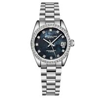Stuhrling Original 3936 3 Quartz Date Crystal Accented Bracelet Womens Watch