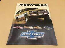 1979 Chevy Trucks Sales Brochure Chevrolet Blazer Luv Van El Camino Pickup 4x4