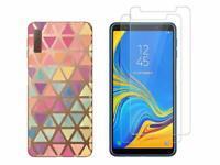 Samsung Galaxy A7 2018 - Pack 2 films en verre trempé protection écran + coque