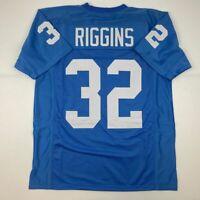 New JOHN RIGGINS Kansas Blue College Custom Stitched Football Jersey Men's XL
