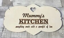 Mother's Day mum mummy laser cut personalised large decorative Kitchen plaque