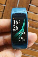 Samsung Gear Fit 2 Blue Con Cavo E Basetta Di Ricarica No Scatola