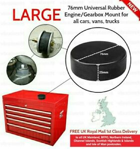 LARGE 76mm Universal Rubber Engine/Gearbox Mount for all cars, vans, trucks NEW