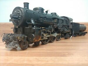Vintage O Scale Lobaugh brass  steam engine 2 rail post war Pacific runs!