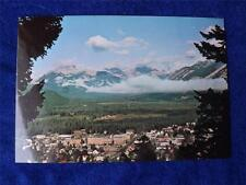 PRE STAMPED POSTCARD BANFF ALBERTA MOUNTAINS CITY VIEW CANADA POST OFFICE
