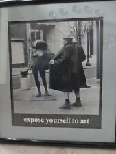 Vintage 1981  Framed Matted EXPOSE YOURSELF TO ART Poster  Mike Ryerson