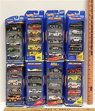 40 Hot Wheels 1997-2000 Police Squad Cruisers Rescue Fire Fighting Heet Fleet