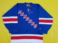 NEW YORK RANGERS jersey pro player L@@K Mens wordmark blue large nhl size 50 L
