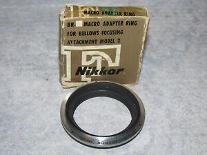 Vintage Nikkor Nikon BR-2 F Macro Adapter Ring In Original Package New/Unused
