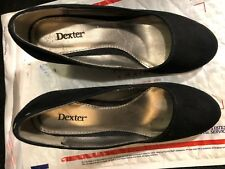"""Shoes, By: DEXTER, black suede, round toe, 3"""" wedge, SZ: 6M"""