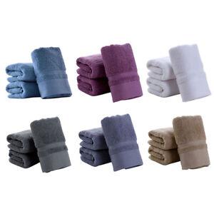 Thick Cotton Men Women Bath Towels Solid Color Soft Cotton Material Bathroom