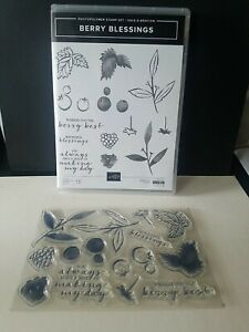 Stampin Up Berry Blessings 13 Pc Photopolymer Stamp Set, New